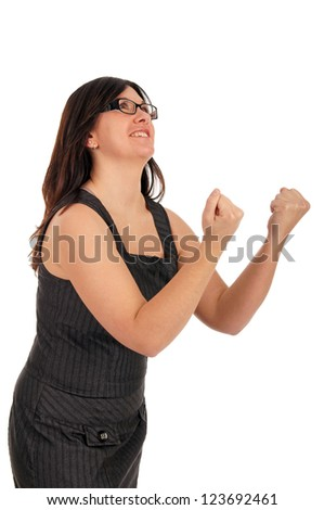 successful business woman is happy / Business Woman - stock photo