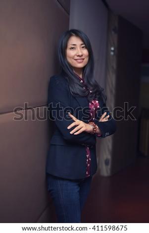 Successful business woman posing - stock photo