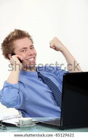 Successful businessman - stock photo