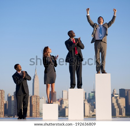 Successful businessman in the city. - stock photo