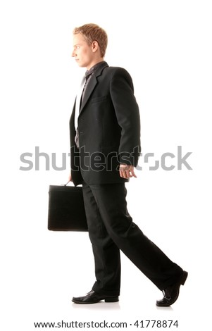 Successful businessman isolated on white background - stock photo