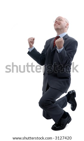 Successful businessman. Picture was made in a studio - stock photo