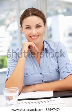 Successful businesswoman - stock photo