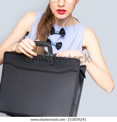 Successful businesswoman or entrepreneur. Busy businesswoman concept. focus on face - stock photo