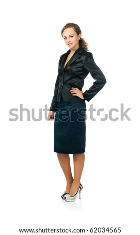 Successful businesswomen. Isolated on a white background