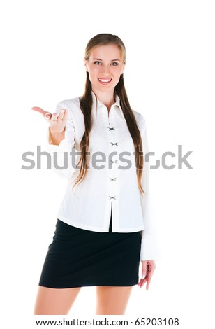 Successful businesswomen. Isolated on a white background - stock photo