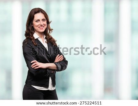 Successful confident businesswoman smiling in her office.