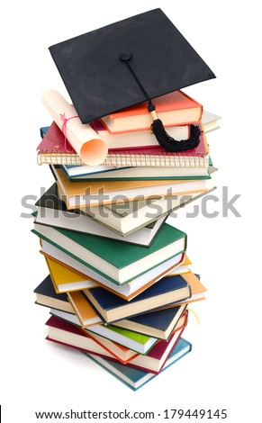 Successful degree on Studying college  - stock photo