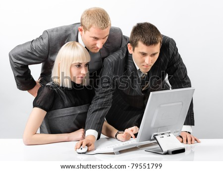 Successful group - stock photo