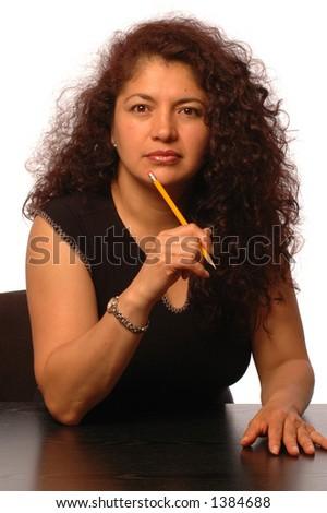 successful hispanic business woman - stock photo
