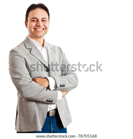 Successful manager isolated on white - stock photo