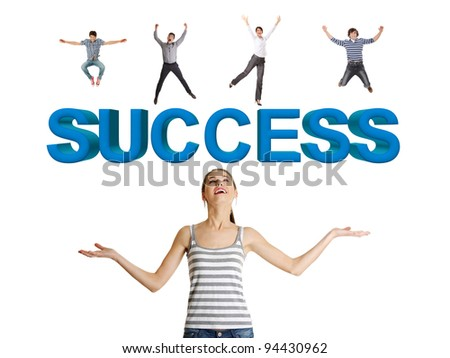 Successful people concept - stock photo