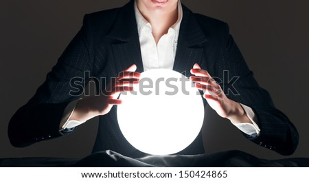 successful person, isolated on beige background - stock photo
