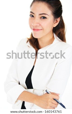 Successful professional and confident business woman smiling