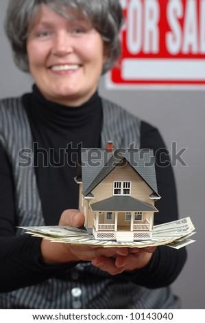 Successful real estate agent - stock photo