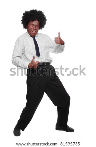 Successful senior businessman showing his thumb up. - stock photo