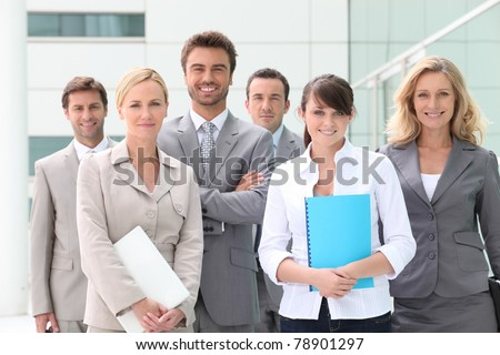 Successful team - stock photo