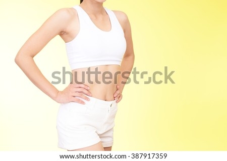 Successful woman on diet - stock photo