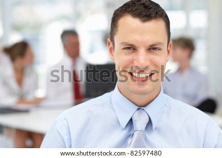 Successful young businessman - stock photo