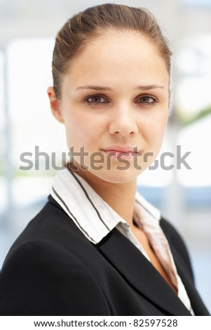 Successful young businesswoman - stock photo