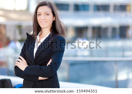 Successful young businesswoman portrait