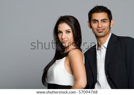 Successful young ethnic business team - stock photo