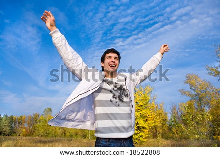 Successful young man - stock photo