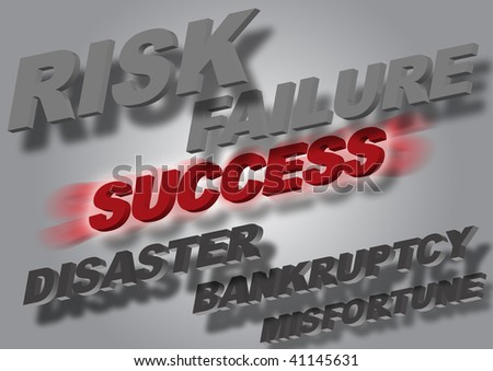 Sucess word with radial blur over grey gradient background