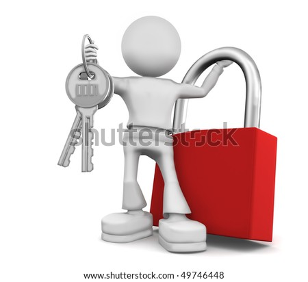 Such big keys in pocket do not fit. - stock photo