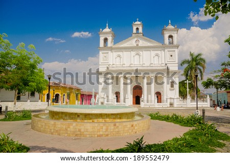 Suchitoto town in El Salvador - stock photo
