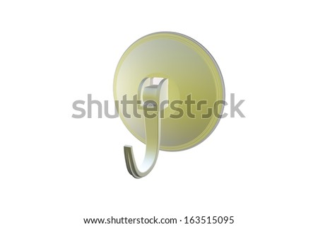 Suction cup hook - stock photo