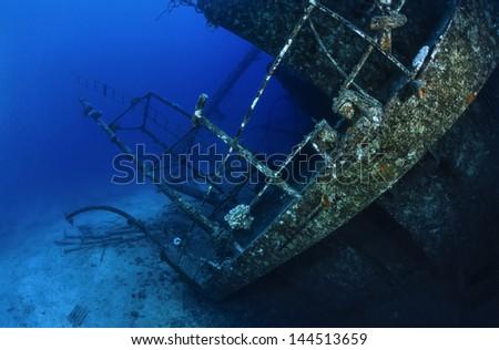 SUDAN, Red Sea, U.W. photo, wreck diving - FILM SCAN - stock photo