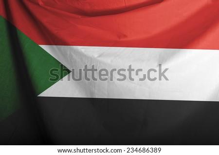 Sudan Waving Flag  - stock photo