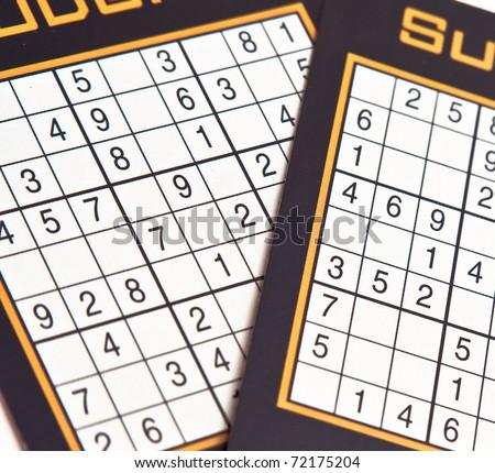 Sudoku table numbers - stock photo