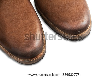 Suede boots - stock photo
