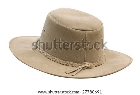 Suede Hat isolated with clipping path - stock photo