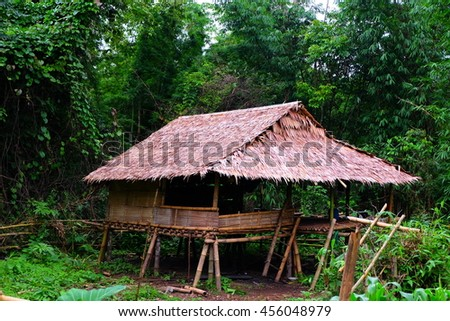 sufficient cottage - stock photo