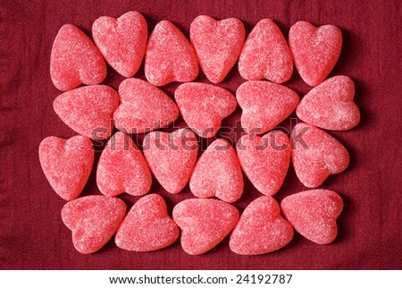 Sugar candy Valentine's hearts - stock photo