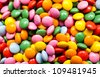 Sugar coated chocolate buttons - stock photo