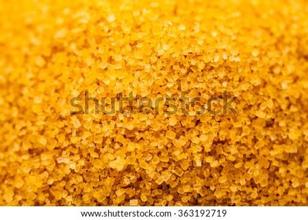 Sugar crystals from sugar cane  - stock photo