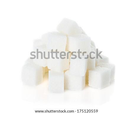 Sugar cubes - stock photo
