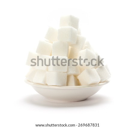 Sugar cubes - stock photo