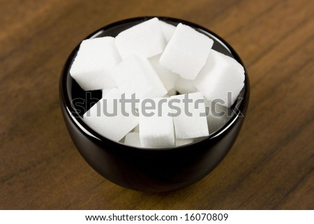 Sugar cubes isolated - stock photo