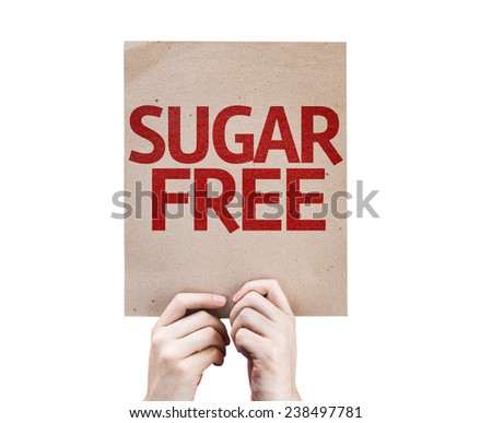 Sugar Free card isolated on white background - stock photo