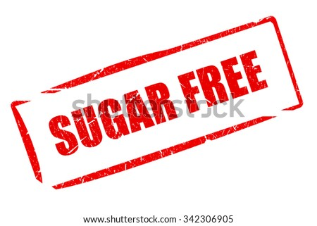 Sugar free rubber stamp isolated on white background