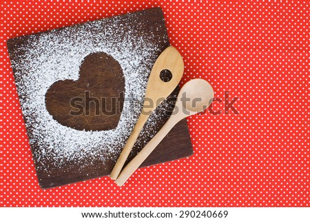 sugar heart on natural background studio shot - stock photo