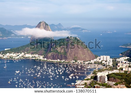 Sugar Loaf in cloud  Rio - stock photo