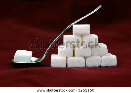 Sugar lumps - stock photo