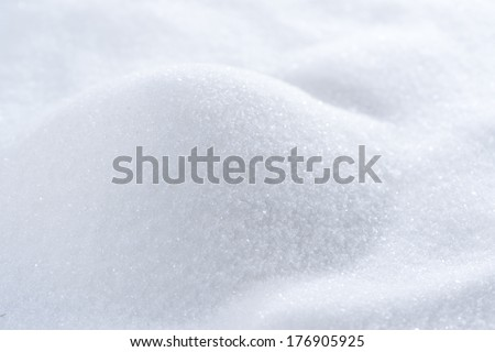 Sugar (macro background image) - stock photo