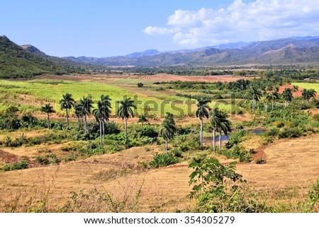 Sugar Mill Valley in Trinidad, Cuba. UNESCO World Heritage Site. - stock photo